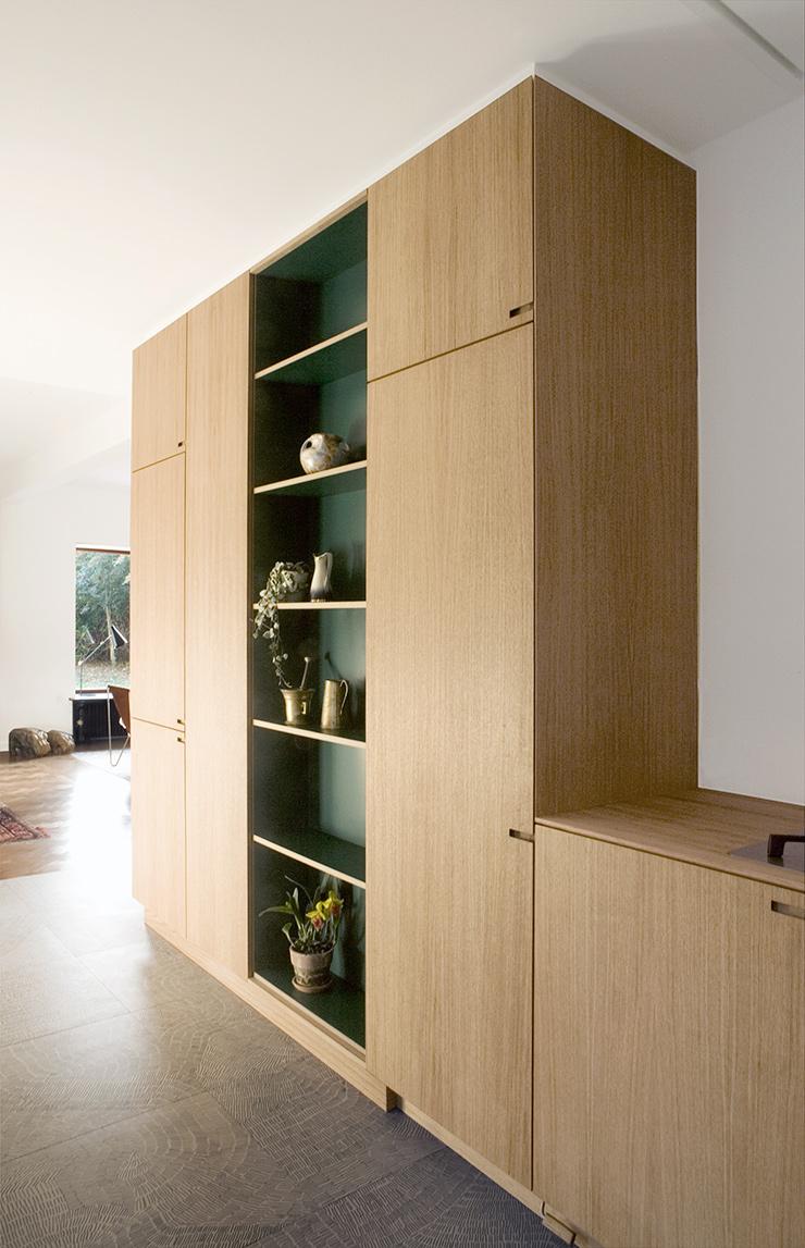 Nicolaj Bo kitchen design in oak wood and racing green laminate