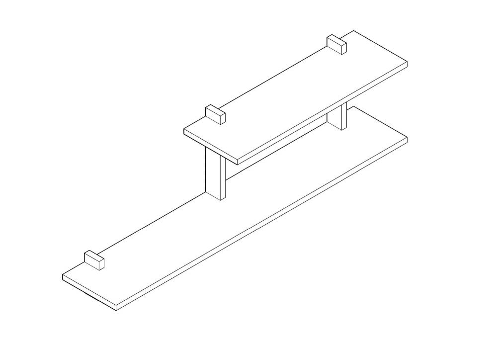 Reol NB 31 i egetræ - designet og produceret af Nicolaj Bo™