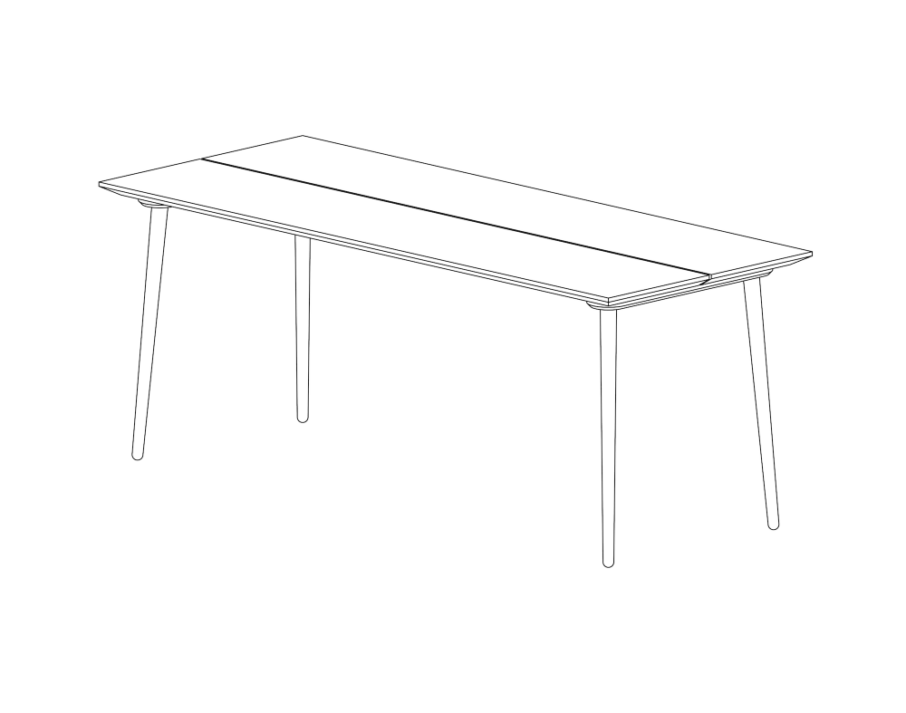 Plankebordet NB42 i egetræ - designet og produceret af møbelsnedkeriet Nicolaj Bo™