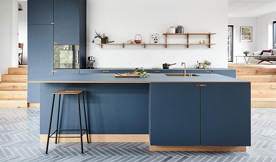 blåt køkken nicolajbo